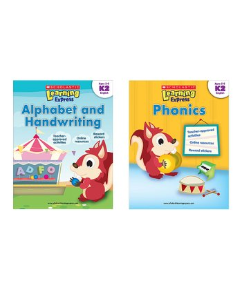 Learning Express Language Arts Paperback Set: Kindergarten