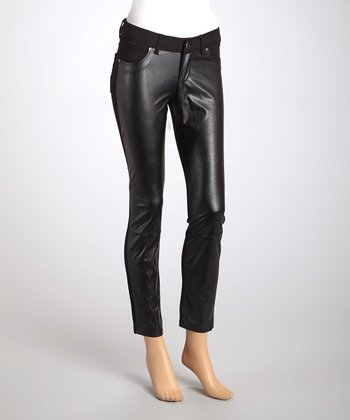 Black Pleather Skinny Pants