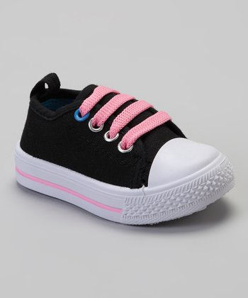 Black & Pink Shell-Toe Sneaker