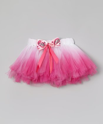 White & Hot Pink Ombré Tutu - Infant, Toddler & Girls
