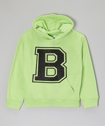 Key Lime Initial Hoodie - Toddler & Kids