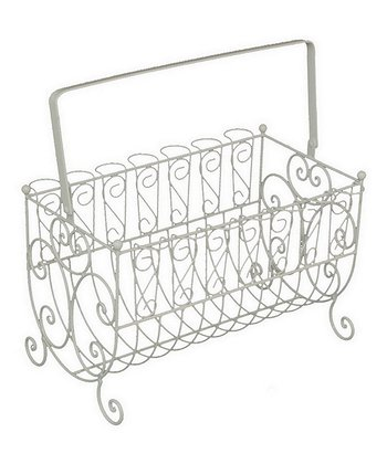 White Handled Magazine Rack