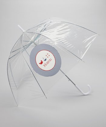 Clear Nautical Personalized Umbrella