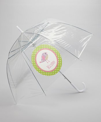 Clear Patch Bird Personalized Umbrella