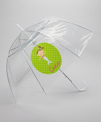 Clear Mermaid Personalized Umbrella