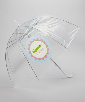 Clear Gator Personalized Umbrella