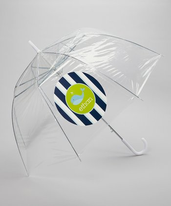 Clear Whale Personalized Umbrella