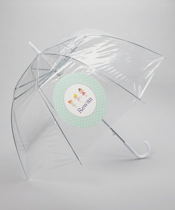 Clear Ballerina Line-Up Personalized Umbrella