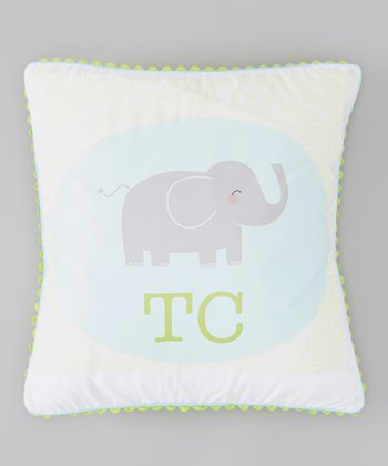 White Elephant Personalized Pillow Cover