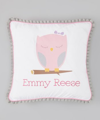 White Owl Personalized Pillow Cover