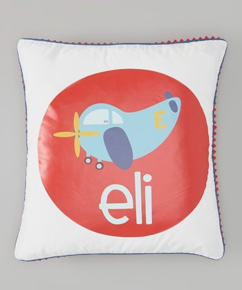 White Airplane Personalized Pillow Cover