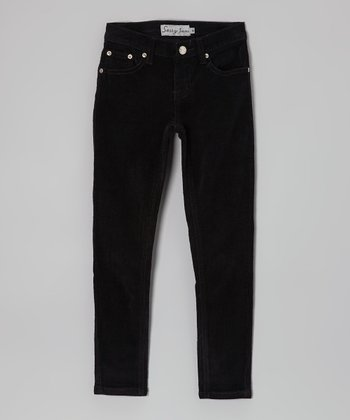 Black Corduroy Pants - Girls
