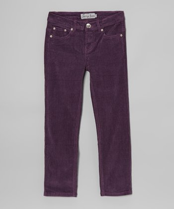 Purple Corduroy Pants - Girls