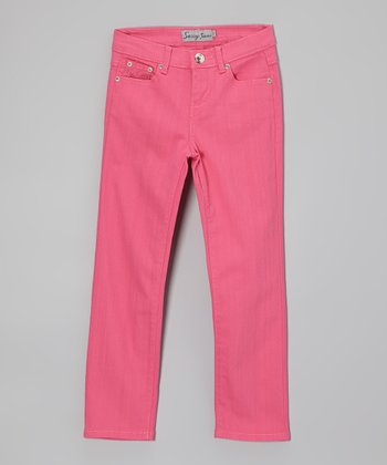 Fuchsia Jeans - Toddler & Girls
