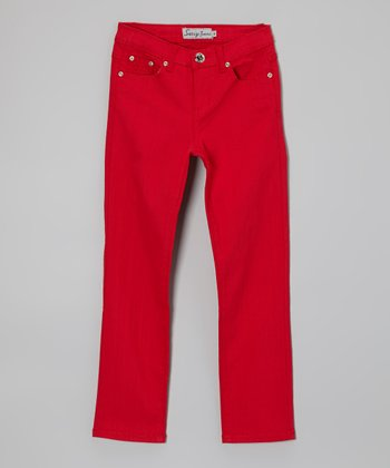 Red Jeans - Toddler & Girls