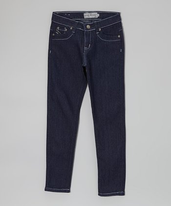 Dark Wash Jeans - Girls