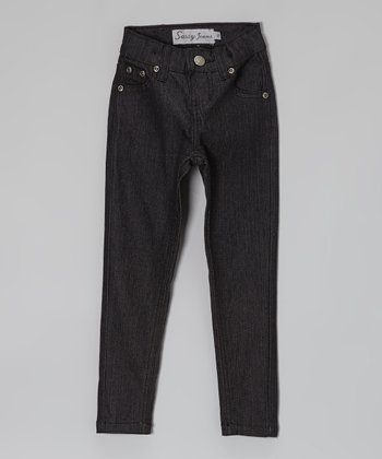 Dark Wash High-Waist Jeans - Toddler & Girls
