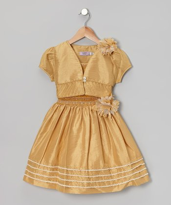 Gold Party Dress & Vest - Toddler