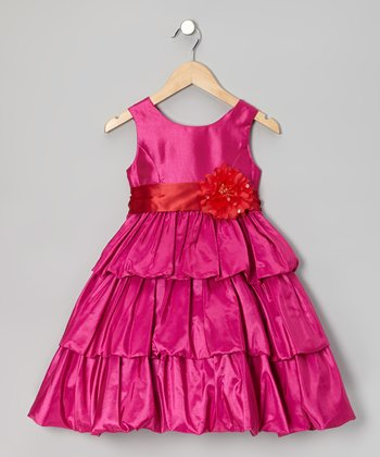 Hot Pink Bree Dress - Girls