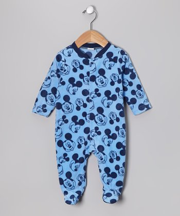 Blue Mickey Mouse Footie - Infant