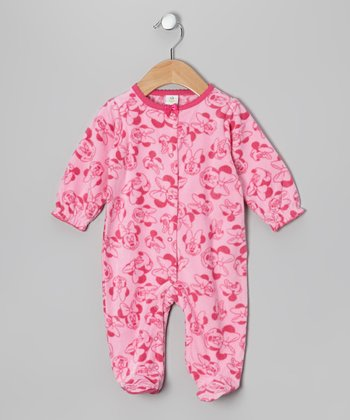 Pink Minnie Mouse Footie - Infant