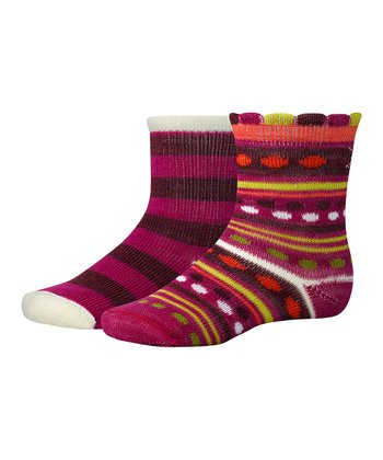 Berry Sampler Wool-Blend Socks Set - Kids