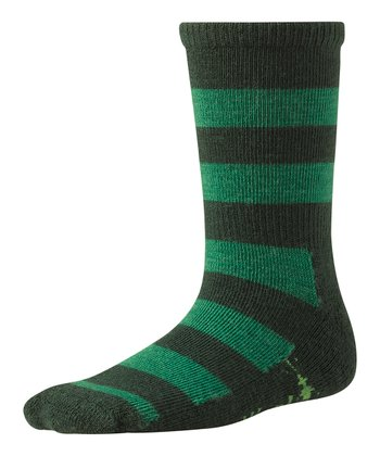 Evergreen Double Insignia Wool-Blend Socks - Kids