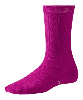 Berry Cable Wool-Blend Socks - Women