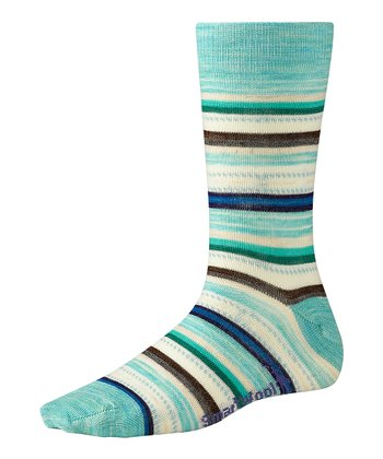 Mineral & Spearmint Margarita Wool-Blend Crew Socks - Women