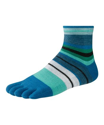 Arctic Blue Saturnsphere Toe Wool-Blend Socks - Women