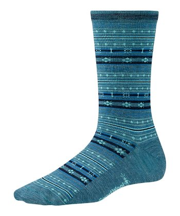 Aegean Heather Mini Fairisle Wool-Blend Socks - Women