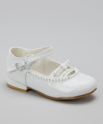 White Patent Embellished Mary Jane