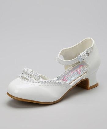 White Embellished Cutout Shoe