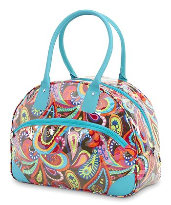 Turquoise Handle Paisley Pizazz Day Traveler