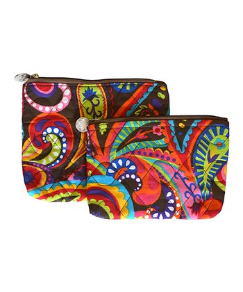 Paisley Pizazz Quilted Cosmetic Bag Set