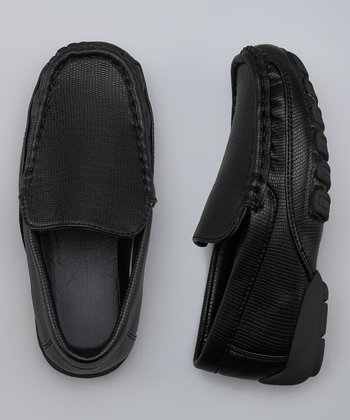 Black Snakeskin Loafer