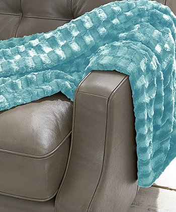 Aqua Luxury Faux Fur Throw