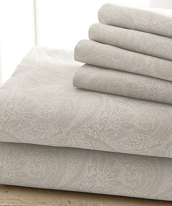 Vanilla Damask Sheet Set