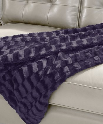 Lavender Luxury Faux Fur Throw