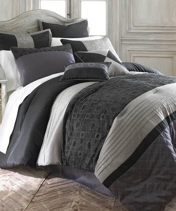 Gate Work Embellished Comforter Set