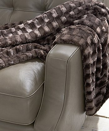 Chocolate Luxury Faux Fur Throw