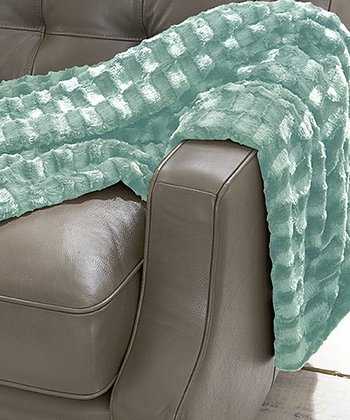 Silver Jade Luxury Faux Fur Throw