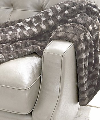 Taupe Luxury Faux Fur Throw