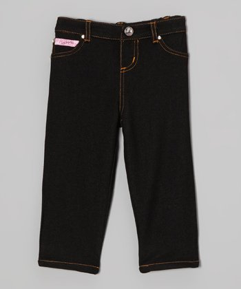 Black Jeggings - Toddler & Girls