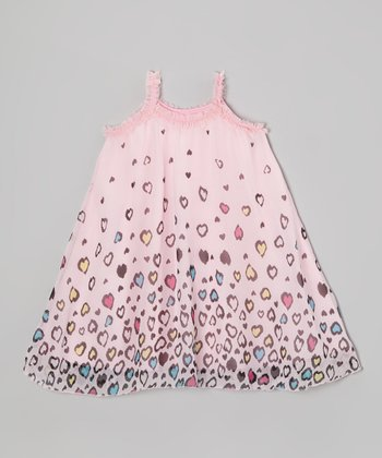 Light Pink Heart Dress - Toddler