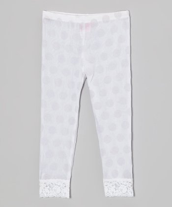 White Footless Tights - Toddler & Girls