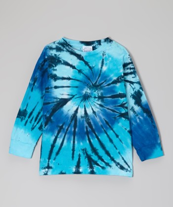 Blues Spinner Tie-Dye Long-Sleeve Tee - Toddler & Kids