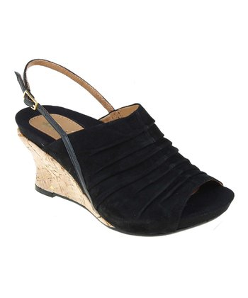 Black Kelderra Peep-Toe Slingback