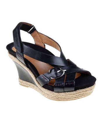 Black Salerno Too Wedge Sandal