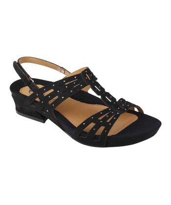 Black Rhinestone Tica Sandal